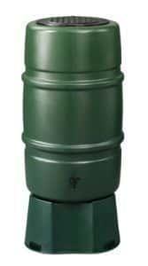 225 liter regenton groen + voet