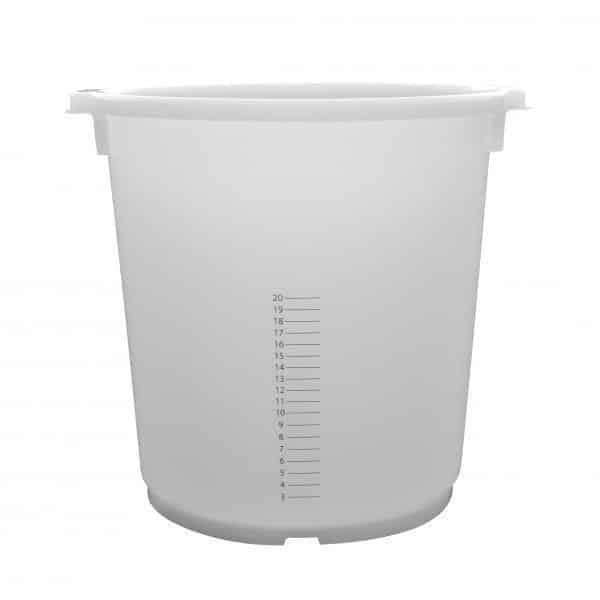 35 liter kuip met maatverdeling transparant