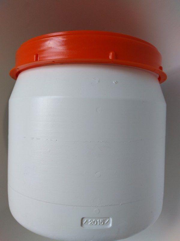 25 liter voerton wit