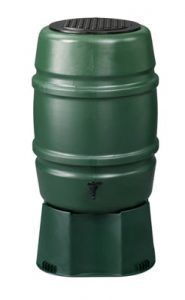 170 liter regenton groen + groene voet