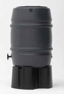 170 liter regenton storm grijs op voet zijkant