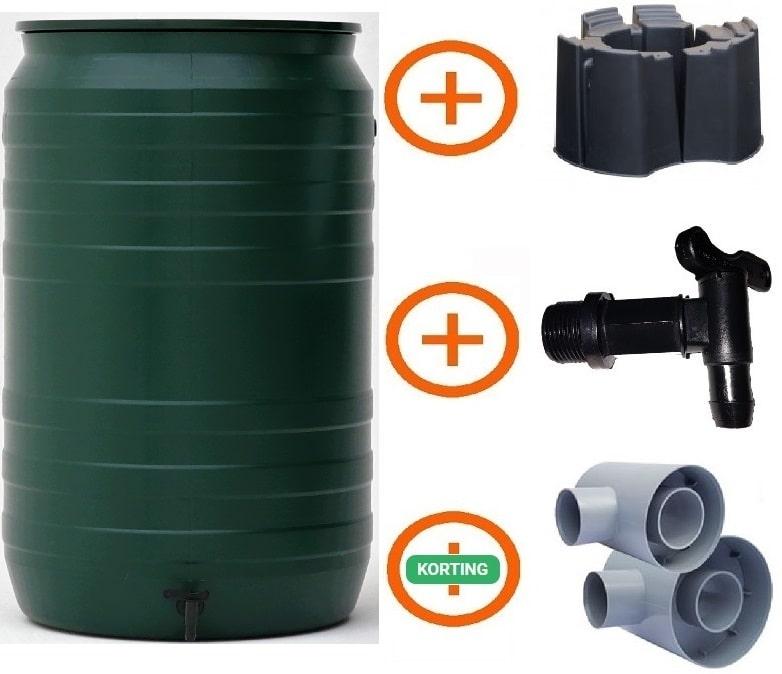 210 liter regenton groen actiepakket Smart