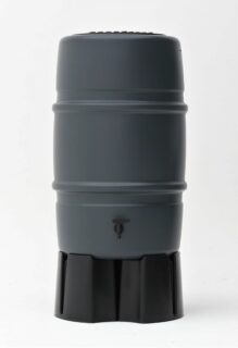 227 liter regenton Harcostar grijs met voet
