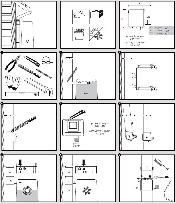 Aansluiting vierkante vulautomaat met bladvanger