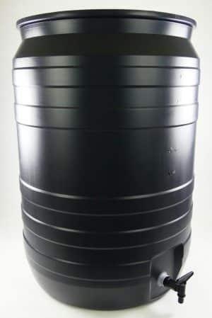 Grijze 180 liter regenton