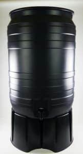 Grijze 180 liter regenton met voet
