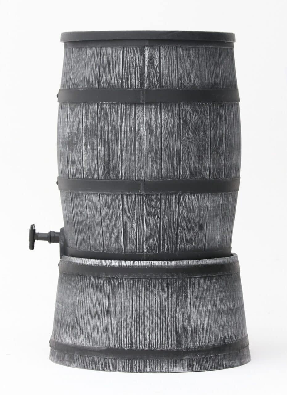 Grijze houten regenton 120 liter Wineman