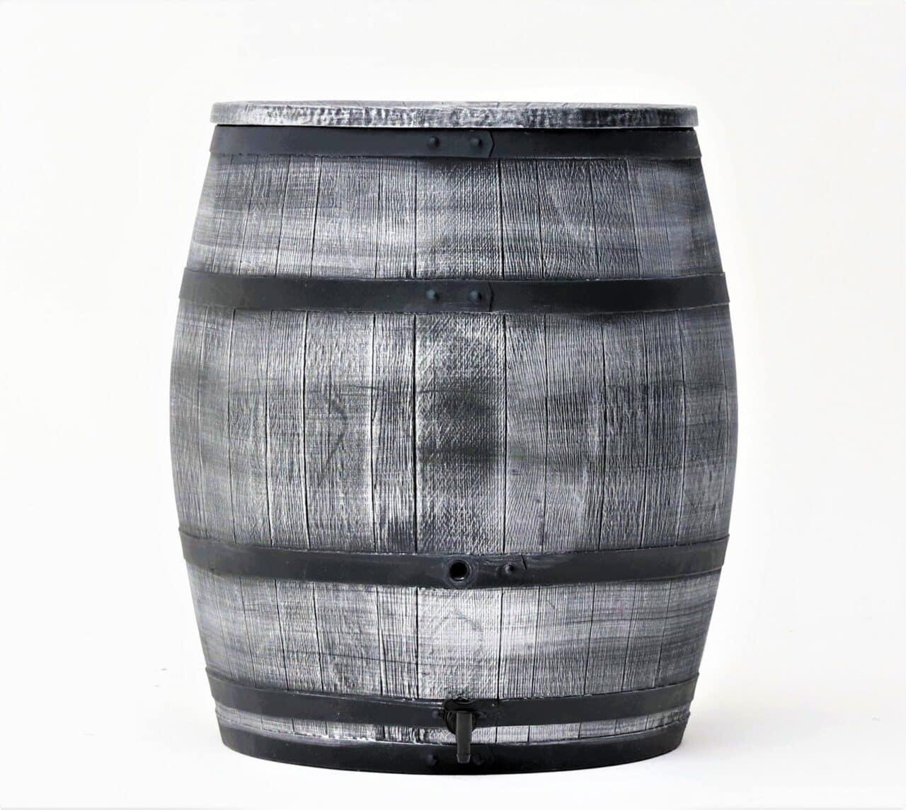 Grijze houtlook regenton 240 liter Wineman