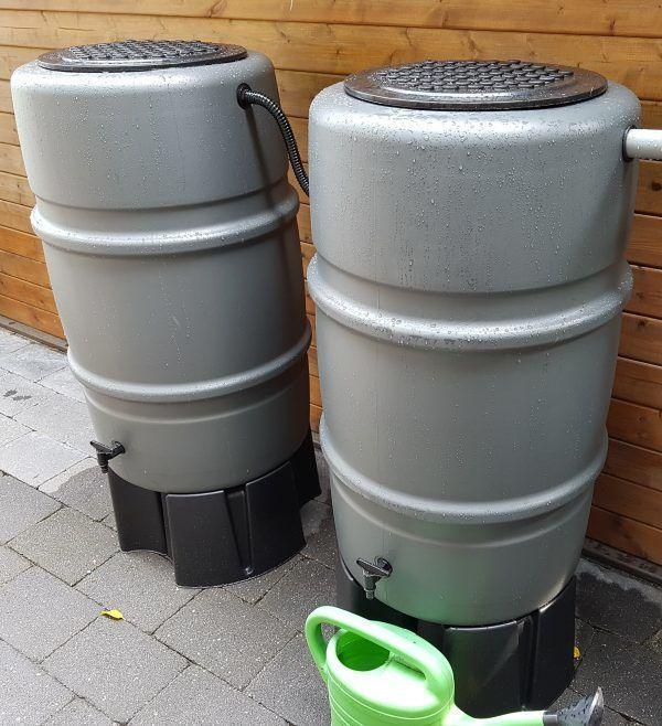 Grijze regentonnen 225 liter
