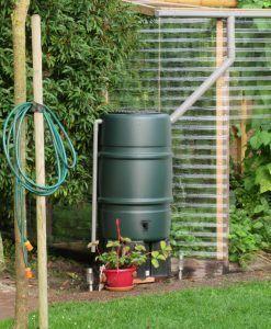 Groene kunststof regenton 225 liter