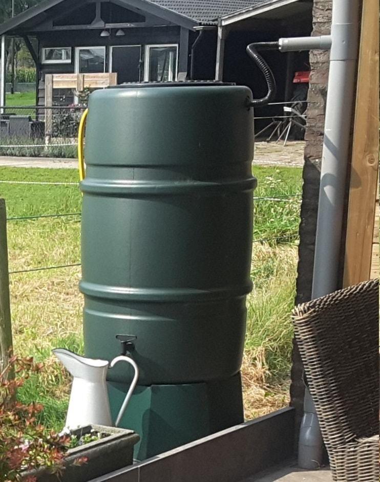 Groene regenton 225 liter