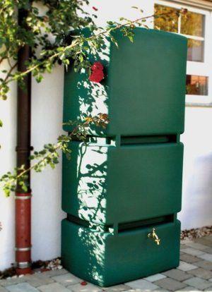 Grote groene regenton 800 liter
