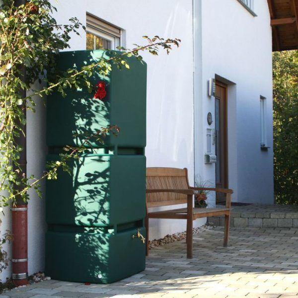 Grote groene regenton 800 liter mammoet