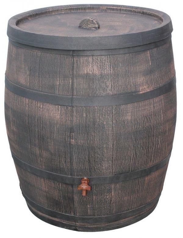 Grote houten regenton 350 liter