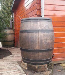 Houten wijnvat regenton 240 liter