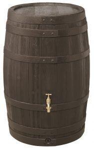Houtlook regenton 260 liter mokka