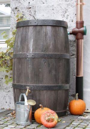 Houtlook regenton 500 liter boergondie
