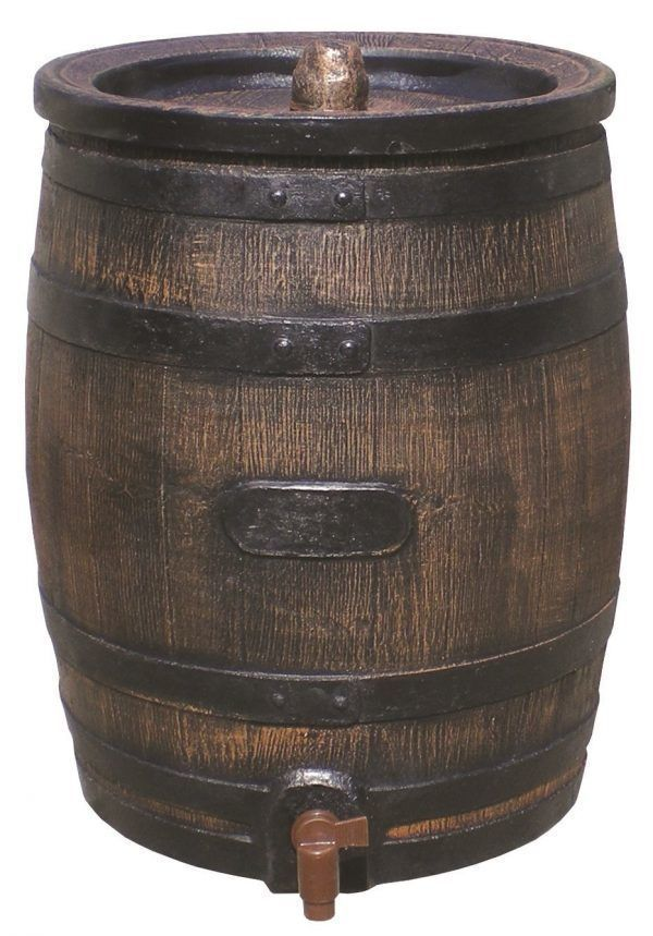 Kleine houten regenton 50 liter