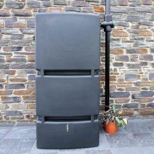 Rechthoekige regenton 800 liter zwart