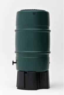 Regenton harcostar 227 liter groen zijaanzicht