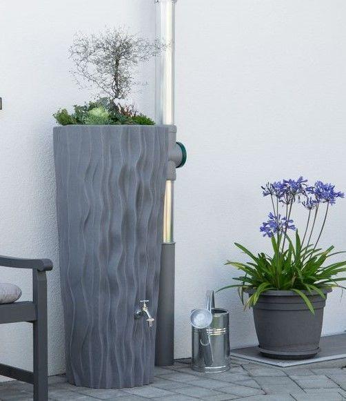 Regenton met plantenbak Flower