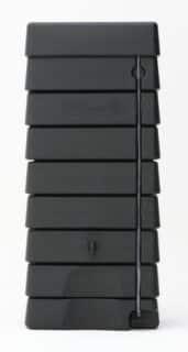 Regenton muur model zwart brick