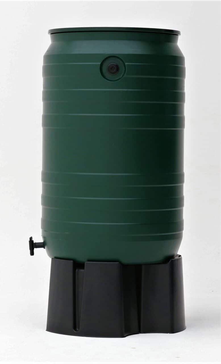 Smart regenton 200 liter groen zijaanzicht