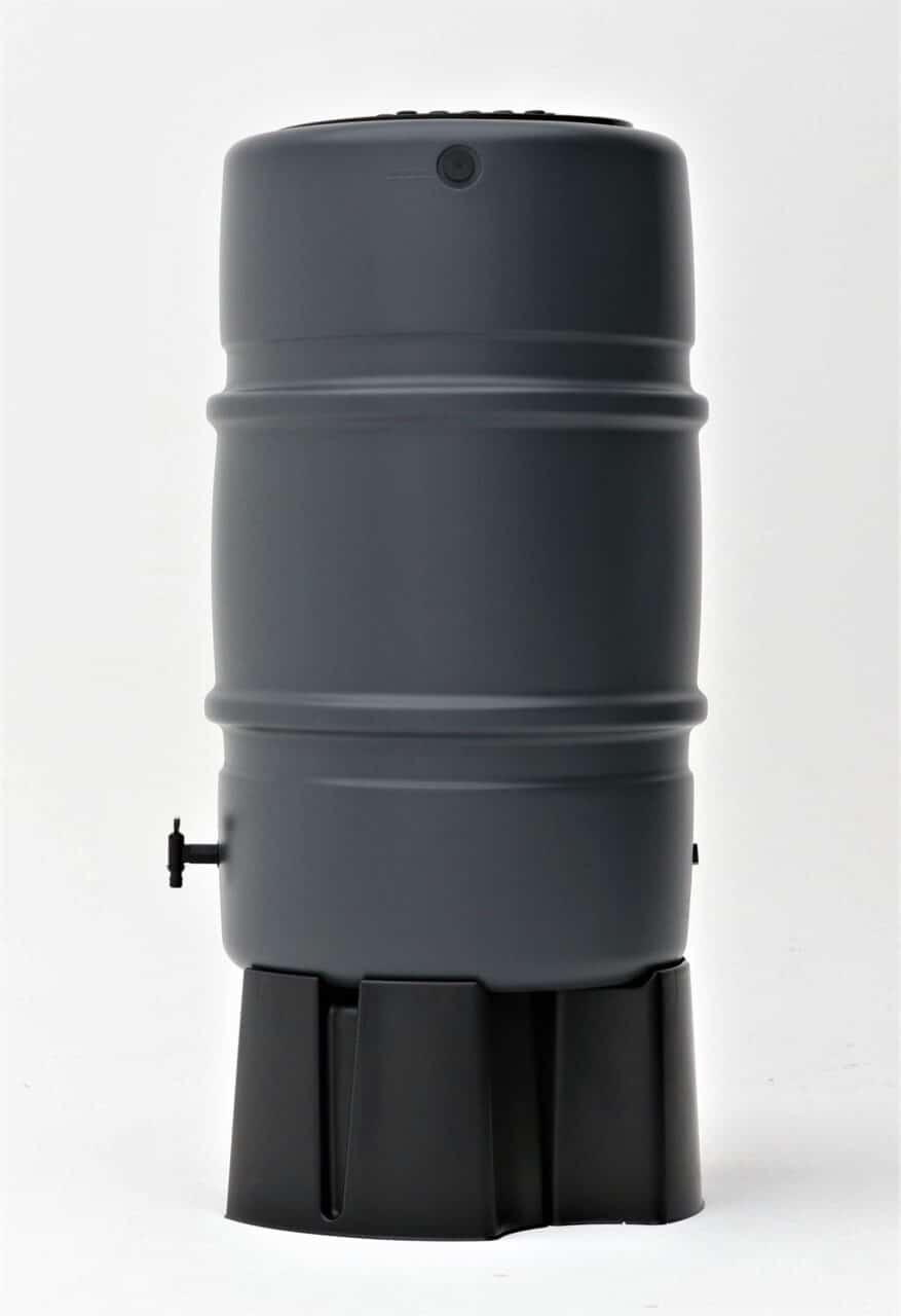 harcostar 227 liter grijs zijaanzicht