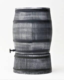houten regenton grijs op voet 240 liter