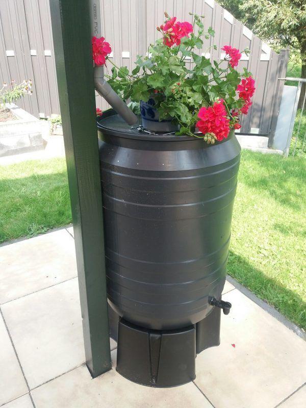 kunststof regenton 180 liter grijs