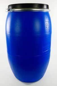 Blauwe ton 120 liter