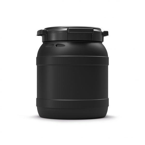 15 liter voerton zwart Curtec