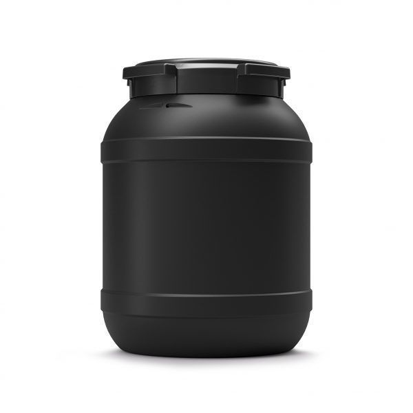 26 liter voerton zwart Curtec