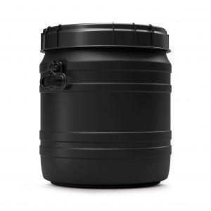 55 liter voerton zwart Curtec