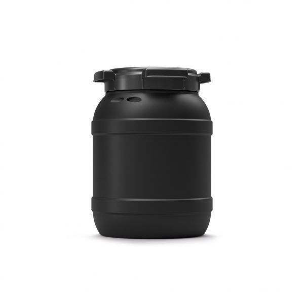 6 liter voerton zwart Curtec