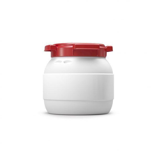 Kleine voerton 3,6 liter wit