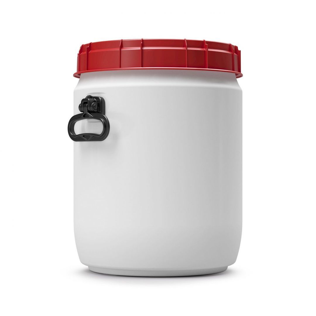 Voerton 34 liter wit