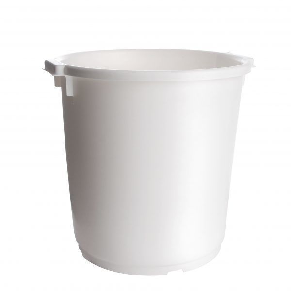 Witte 35 liter kuip met handgrepen