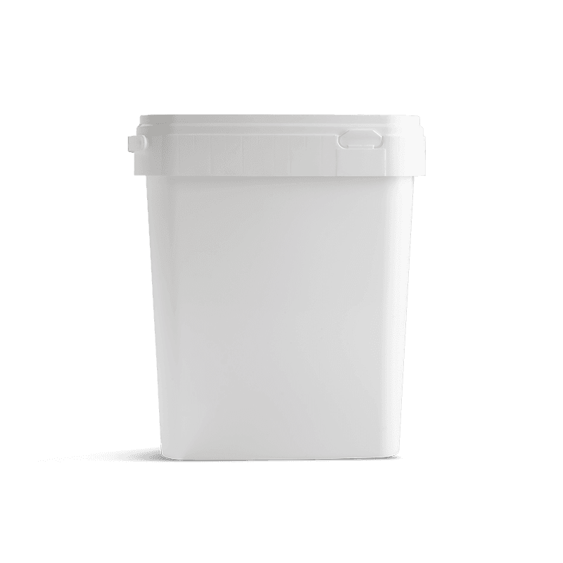 Vierkante emmer 10 liter wit