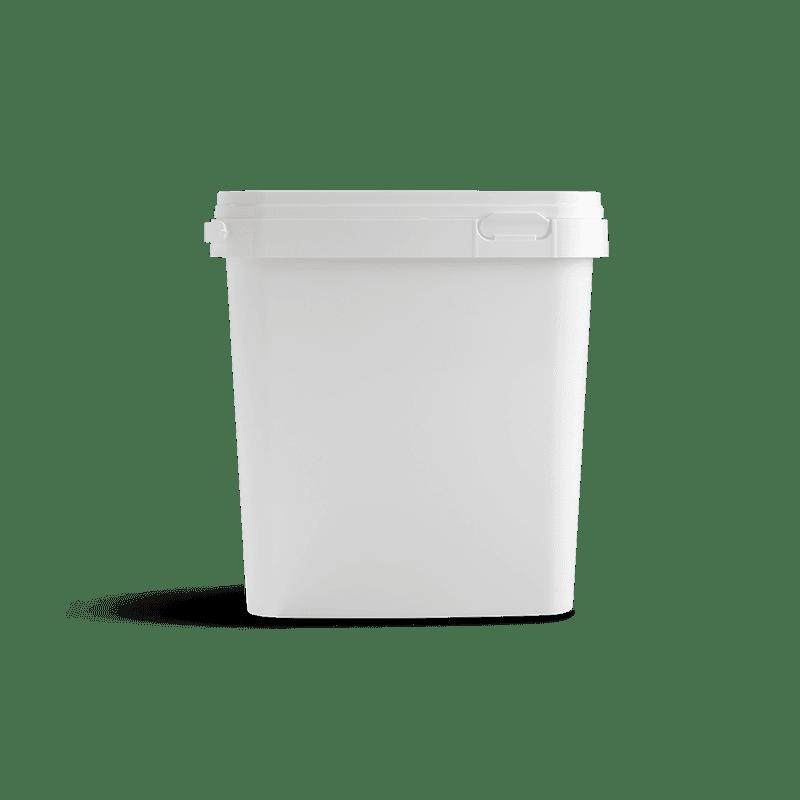Vierkante emmer 5 liter wit