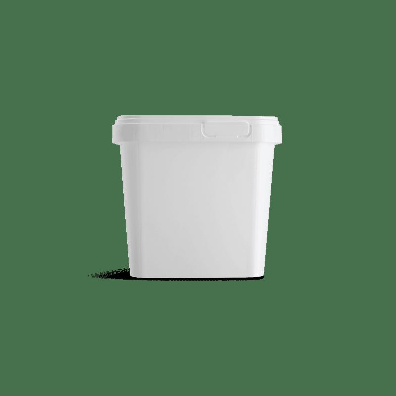 Vierkante emmer met deksel 1 liter
