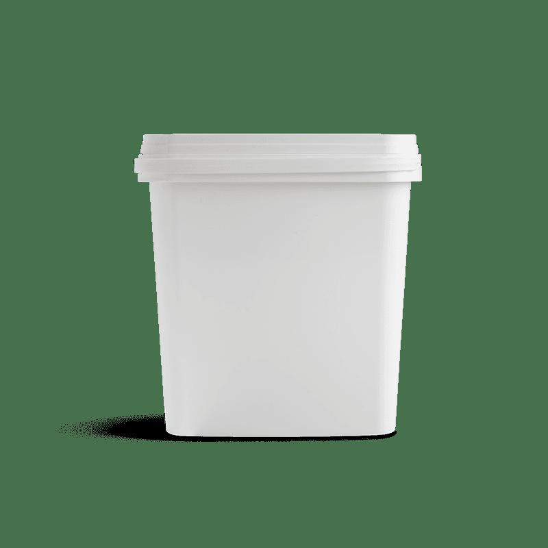 Vierkante emmer met deksel 5 liter
