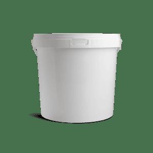 Witte emmer met deksel 10 liter