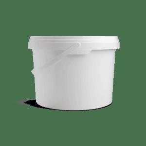 Witte emmer met deksel 5 liter