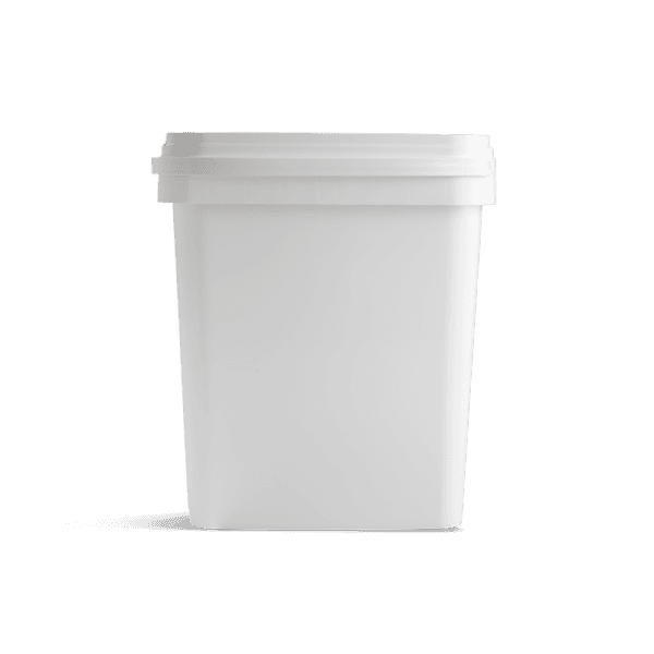 Witte emmer vierkant 10 liter