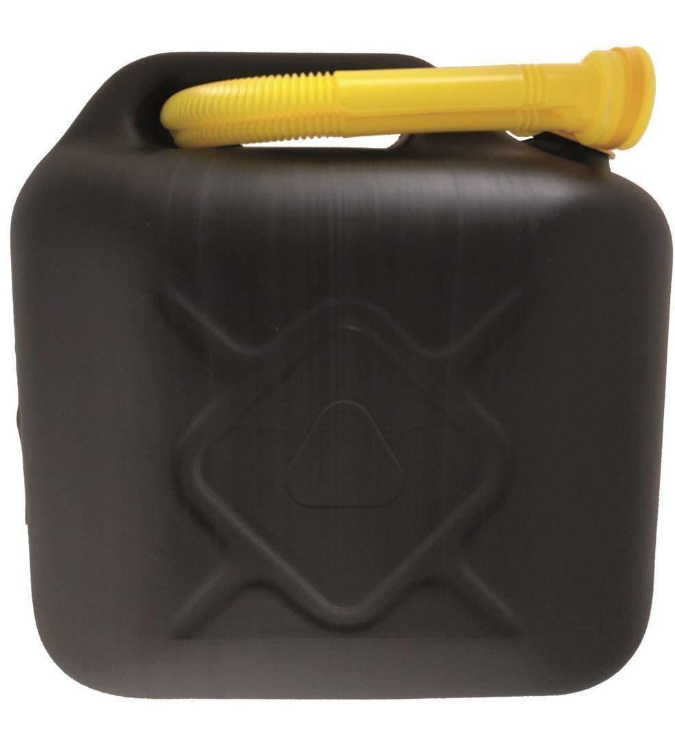 Zwarte jerrycan 10 liter benzine