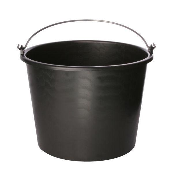 12 liter emmer zwart
